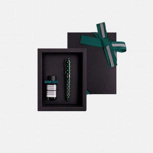 安迪钢笔墨水礼盒 森绿圆点 | 高品质钢笔/小瓶墨水套装