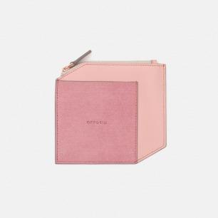 原创设计拼皮零钱包   轻薄简洁 手工打造 粉色款