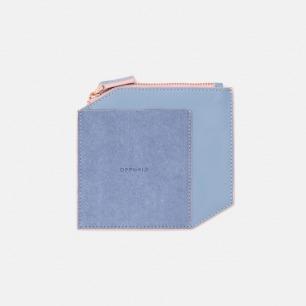 拼皮零钱包   OFF-Cube系列 轻薄简洁手工打造【蓝色】
