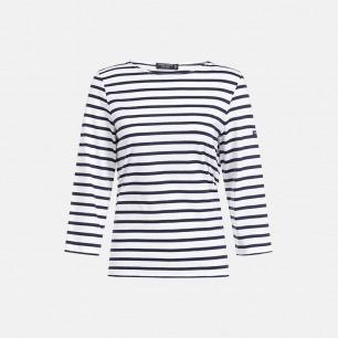 条纹全棉T恤 经典复古圆领 | 多款可选 8072-XX
