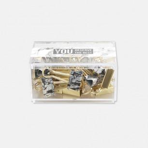 塑盒装票夹 | 大理石系列 【19MM/25MM】