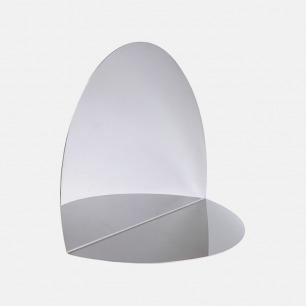 被弯折的镜子 | 椭圆形 不锈钢材质