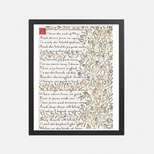 六月的诞生 装饰画   英国诗人手写诗词款