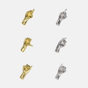 镀金耳钉单只 | 「WAU」六脉神剑系列 18K镀金材质【多款可选】