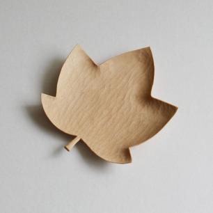 山舍秋山系列枫叶手工木盘 | 手工雕刻自然之美