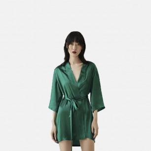 显瘦显高的短款家居睡袍 | 修饰身型 真丝养护肌肤