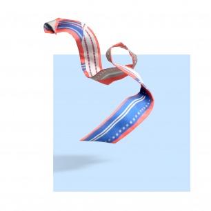 真丝斜纹几何图案小长巾   Capture系列
