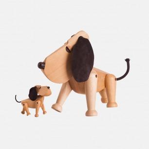 趣味木质玩具小狗 | 狗狗能做的动作它都能做