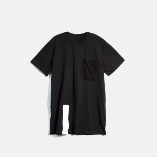 Oversize长款黑白色简约基本短袖T恤