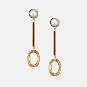 平衡系列 珍珠耳坠