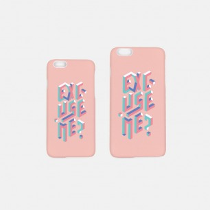 EXCUSE ME 手机壳-粉色   【多种尺寸】