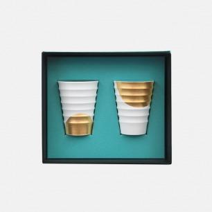 日本陶艺家河原尚子「Sione」矮身对杯之玄月 | 双杯中的诗意对答