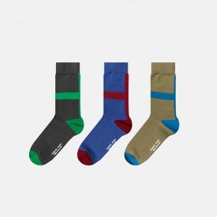 英伦中筒袜创意十字组合B | 色彩与空间的碰撞