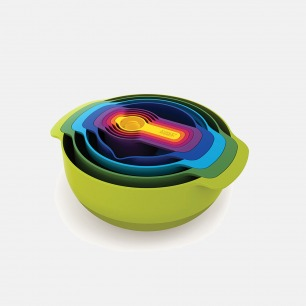 彩虹色创意厨具冷色9件套 | 多功能 易收纳 节省空间