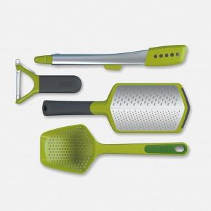 厨具4件礼盒套装 | 滤勺夹削皮擦丝器