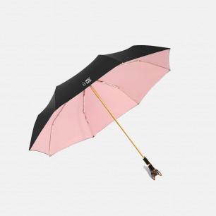 傲娇萌猫系列三折晴雨伞 | 手工打造的玻璃钢萌猫手柄