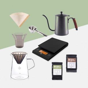 手冲咖啡大满贯套装 | 三步就能获得的美味咖啡组