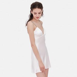 真丝吊带睡裙   给你更精致贴心的睡眠时光【两色可选】