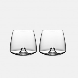 北欧简约威士忌酒杯x2   用它喝酒都觉得很高级