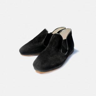 黑色麂皮半靴