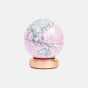 金属底座地球仪-英文版  | 极简造型 现代家居艺术性摆件-水墨粉