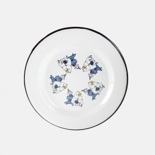 冬季新品 姆明系列 大号搪瓷盘