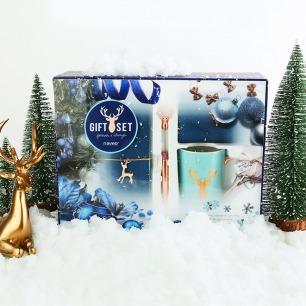 圣诞系列礼品套装 | 含笔记本 金属中性笔 水杯  零钱包