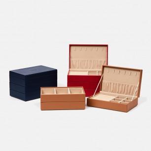 三层款首饰盒   防尘防潮防氧化【三色可选】