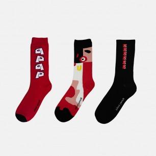 狗狗主题袜 三色可选 | 招财迎新 旺事如意