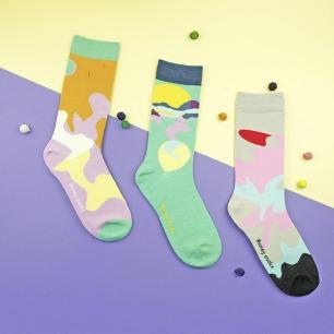 冬日雪山棉袜 多款可选 | 用色梦幻 设计精致有趣