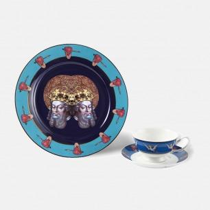 西方经典主题瓷器-圆盘杯碟 | HUXI × 赵一浅合作系列