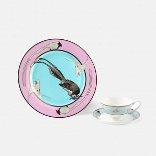 东方经典主题瓷器-圆盘杯碟 | HUXI × 赵一浅合作系列