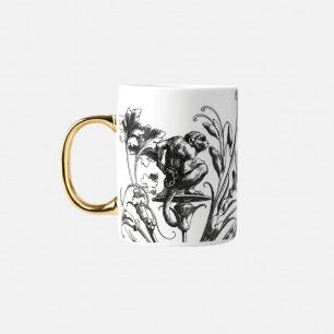 哥特主题马克杯-猴子 | 古典风格之美