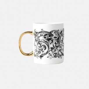 哥特主题马克杯-哥特花纹 | 古典风格之美