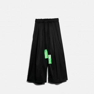 宽松阔腿打褶武士九分裤   独立设计师品牌 原创设计