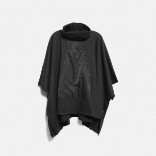 高领拼接侧边暗扣斗篷式外套 | 独立设计师品牌 原创设计