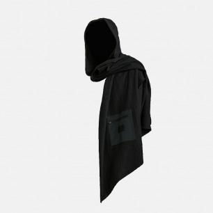 复合棉绒长款斗篷连帽围巾 | 独立设计师品牌 原创设计