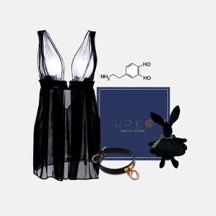 多巴胺表白礼盒(附情话海报) | 性感睡裙+两用Choker+兔子玩偶