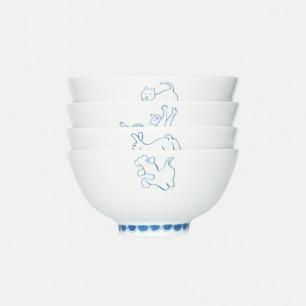 白纹瓷碗 | 白纹瓷绘 造型生动有趣【多款可选】
