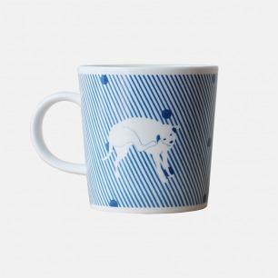 白纹马克杯 | 手绘动物造型 动感趣味【多款可选】