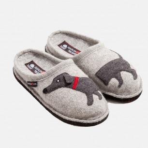 德国100%羊毛毡家居鞋拖鞋 | 轻便保暖 光脚也舒适 可机洗-腊肠犬