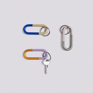 金属钥匙扣 | 北欧简约撞色设计 轻松旋开 方便携带