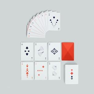 北欧简约 扑克牌 | 橙红色创意纸牌