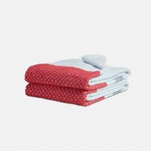 强吸水性纯棉拼色浴巾 | 100%纯棉亲肤舒适 55x90cm【两色可选】