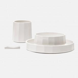 白瓷餐具套装 | 哑光白釉柔软润泽 自然简约