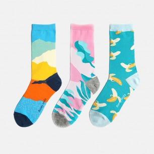 趣味纯棉袜 多款可选 | 色彩明亮 时尚百搭