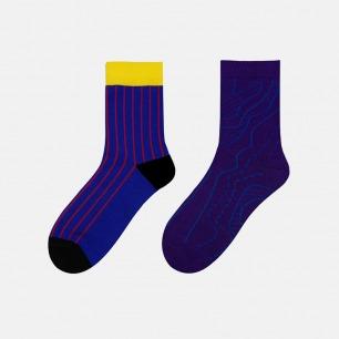 趣味系列正反穿中筒袜 | 正反两穿都时髦