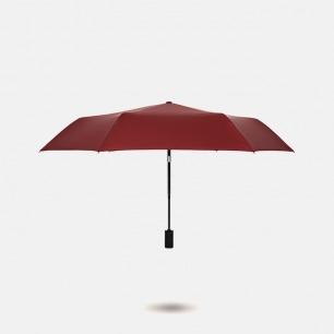 纯色自动黑胶晴雨伞 | 单手操控一键开合