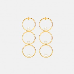 三环贝珠耳环 豌豆系列 | 简约优雅 豌豆系列 原创设计