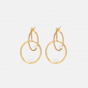 双环贝珠耳环 | 精致灵动 豌豆系列原创设计